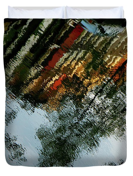 Dutch Canal Reflection Duvet Cover