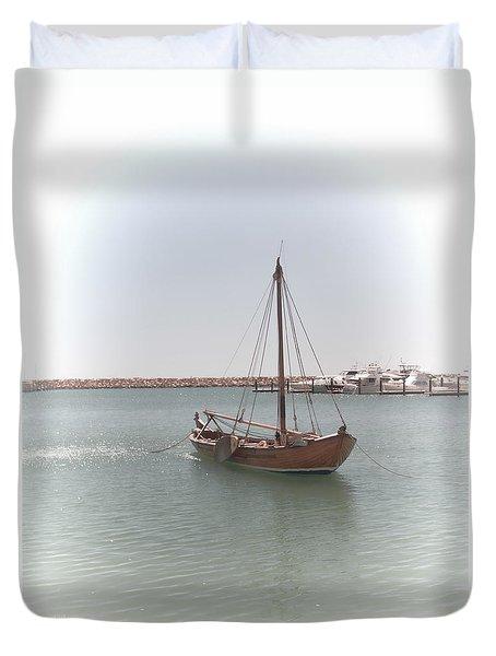 Dutch Vessel Duvet Cover by Elaine Teague