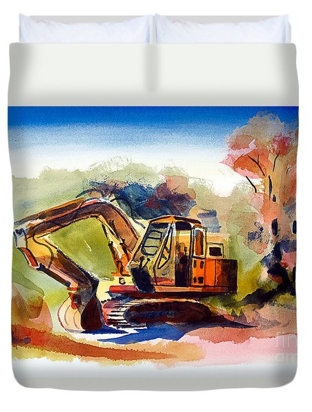 Duty Dozer II Duvet Cover