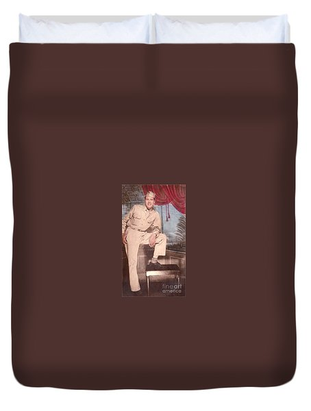 Duty To God And Country Duvet Cover