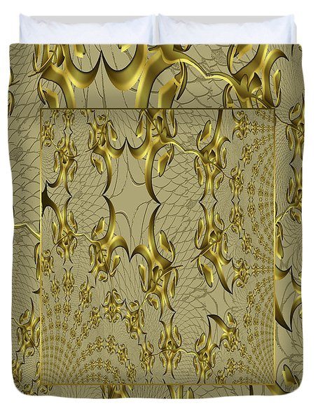 Duvet Cover featuring the photograph Duvet Antique Gold by Robert Kernodle
