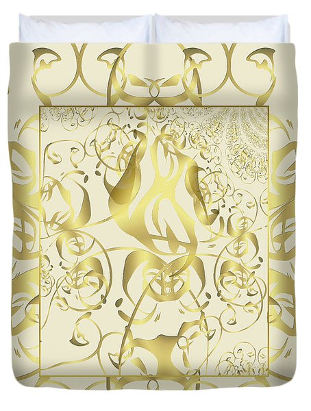 Duvet Cover featuring the photograph Duvet Cream Gold by Robert Kernodle
