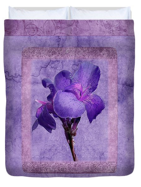 Duvet Cover featuring the photograph Duvet Purple Flower by Robert Kernodle