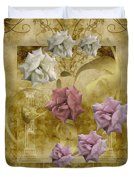 Duvet Cover featuring the photograph Duvet Vintage Roses by Robert Kernodle