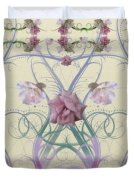 Duvet Cover featuring the photograph Duvet Wild Roses by Robert Kernodle