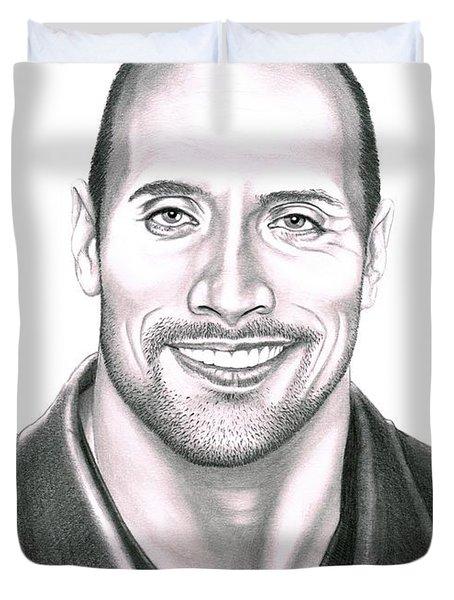 Dwayne Johnson The Rock Duvet Cover