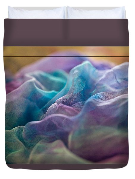 Duvet Cover featuring the photograph Dyed Silk by Liz  Alderdice