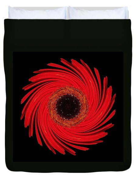 Dying Amaryllis Flower Mandala Duvet Cover
