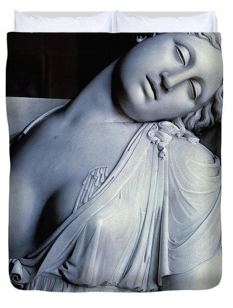 Dying Lucretia  Duvet Cover by Damian Buenaventura Campeny y Estrany