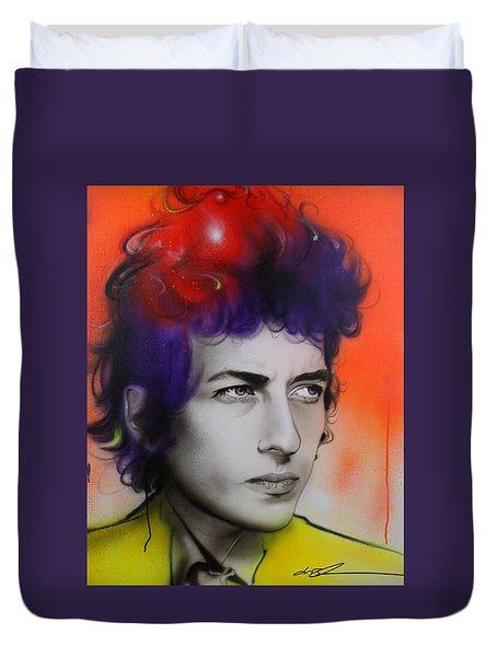 Bob Dylan - ' Dylan ' Duvet Cover by Christian Chapman Art