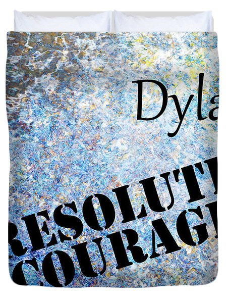 Dylan - Resolute Courage Duvet Cover by Christopher Gaston
