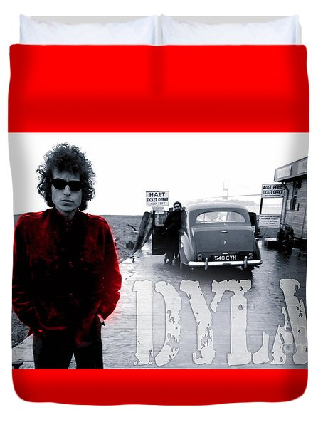Bob Dylan Duvet Cover by Marvin Blaine