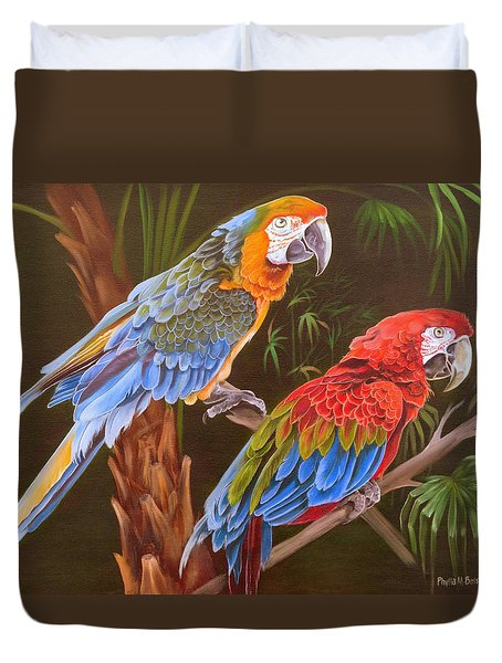 Dynamic Duo Duvet Cover by Phyllis Beiser