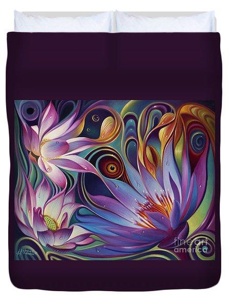 Dynamic Floral Fantasy Duvet Cover by Ricardo Chavez-Mendez
