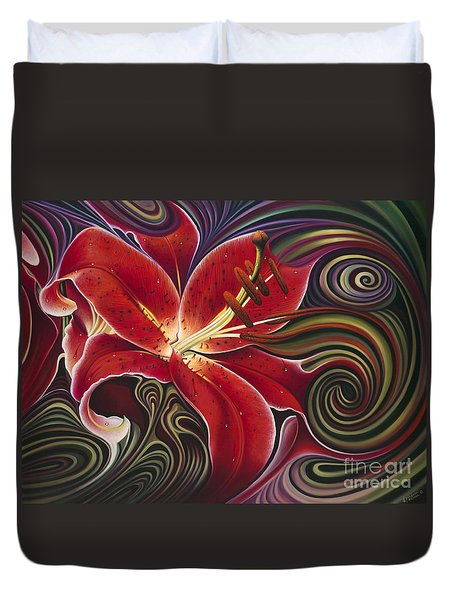 Dynamic Reds Duvet Cover