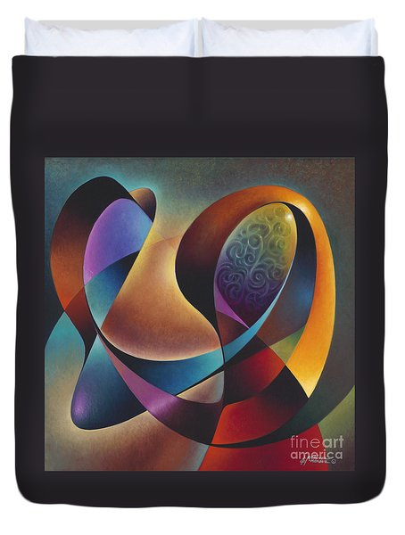 Dynamic Series #13 Duvet Cover by Ricardo Chavez-Mendez