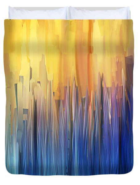 Each Day Anew Duvet Cover by Lourry Legarde
