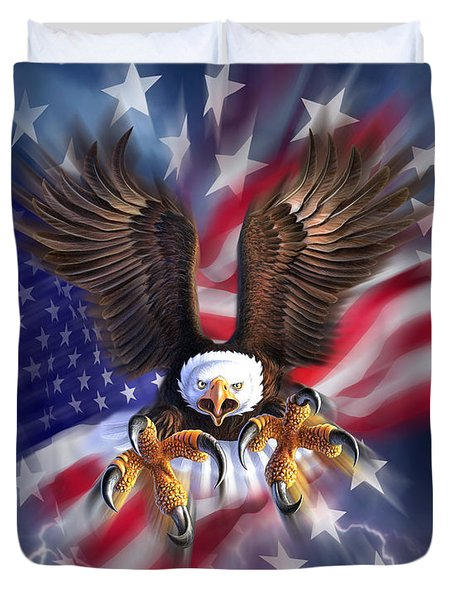 Eagle Burst Duvet Cover