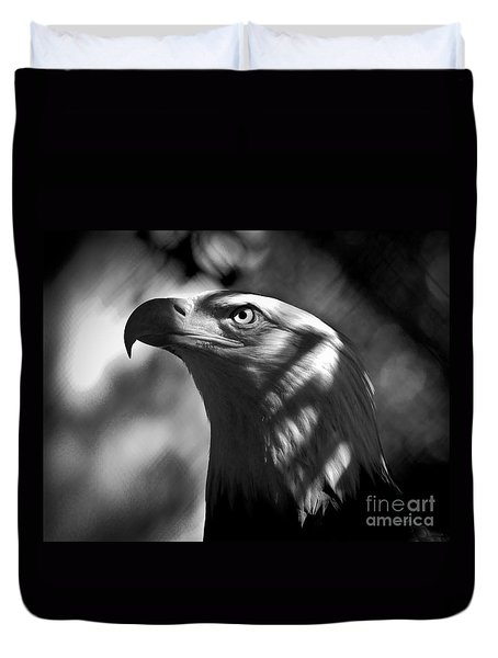Eagle In Shadows Duvet Cover