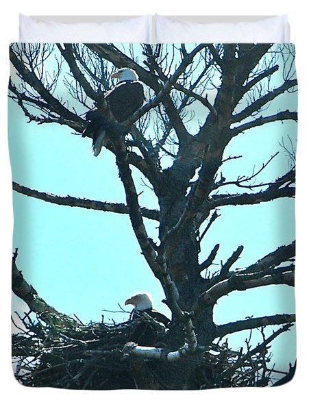Eagle Parents Duvet Cover
