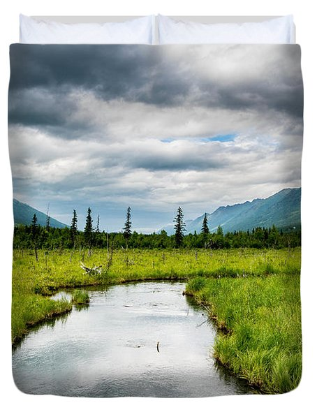 Eagle River Nature Center Duvet Cover by Andrew Matwijec