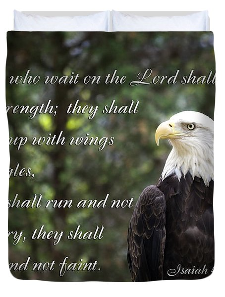 Eagle Scripture Isaiah Duvet Cover