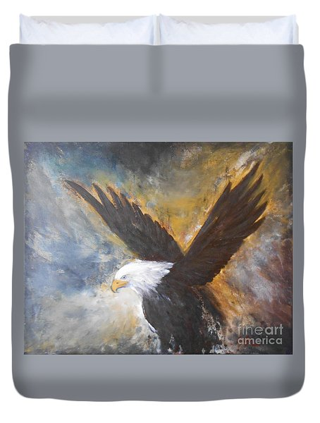 Duvet Cover featuring the painting Eagle Spirit by Jane  See