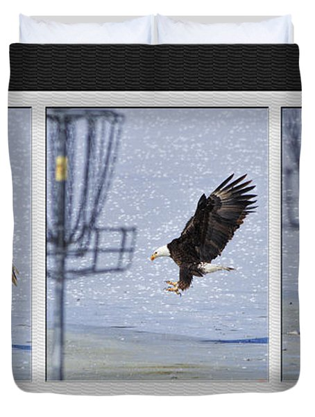Eagle Triptych Duvet Cover by Rob Graham