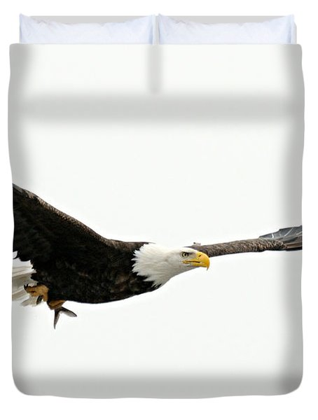 Eagle With Fish Duvet Cover