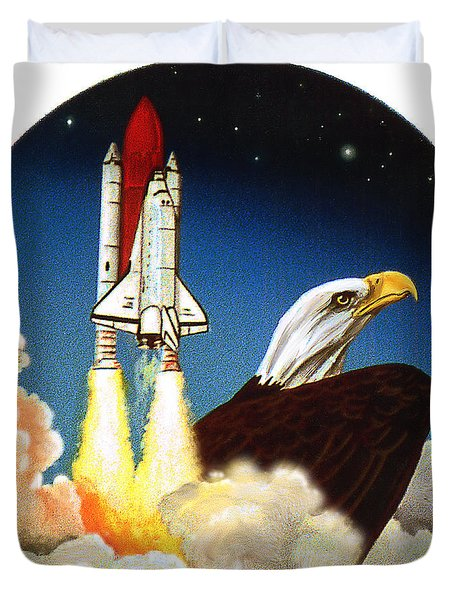 Da165 Eagle's Flight By Daniel Adams Duvet Cover
