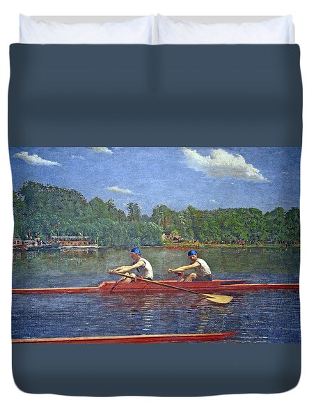 Eakins' The Biglin Brothers Racing Duvet Cover