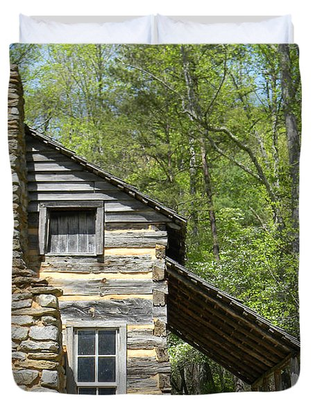 Early Appalachian Home Duvet Cover