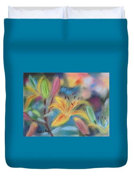Early Arrival Lily Duvet Cover