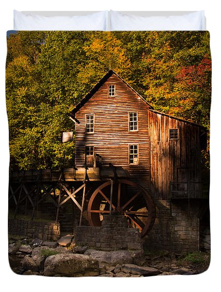 Early Autumn At Glade Creek Grist Mill Duvet Cover