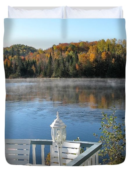 Early Autumn Morning Duvet Cover