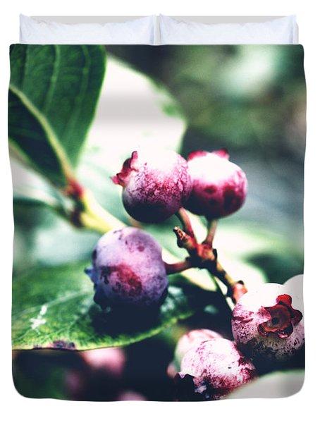 Early Blueberries Duvet Cover
