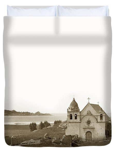 Early Carmel Mission And Point Lobos California Circa 1884 Duvet Cover