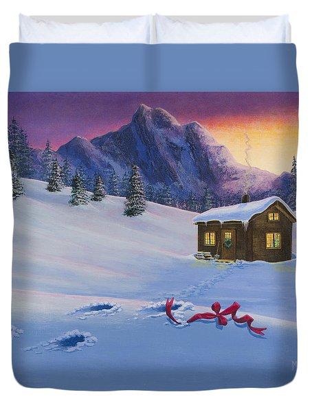 Early Christmas Morn Duvet Cover