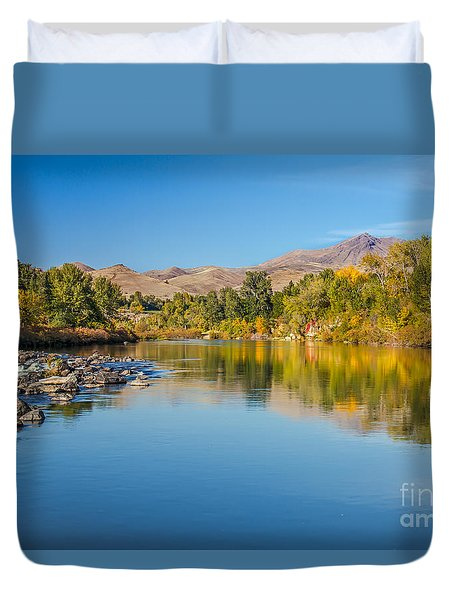 Early Fall On The Payette Duvet Cover by Robert Bales