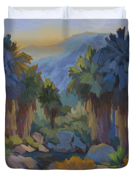 Early Light Indian Canyon Duvet Cover