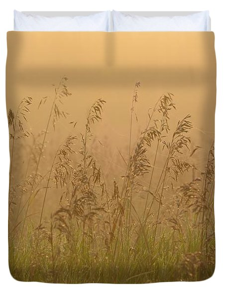 Early Morning Field Duvet Cover