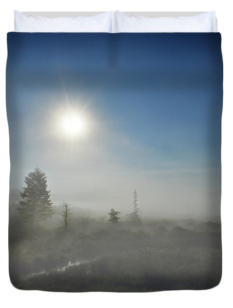 Early Morning Fog At Canaan Valley Duvet Cover by Dan Friend