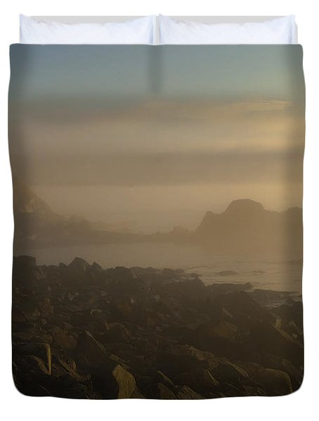 Early Morning Fog At Quoddy Duvet Cover