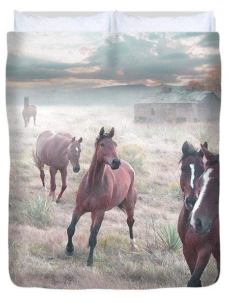 Early Morning Fog Duvet Cover by Bill Stephens