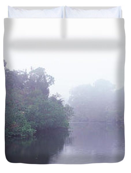 Early Morning Fog On A Creek, South Duvet Cover by Panoramic Images