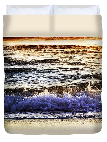 Early Morning Frothy Waves Duvet Cover