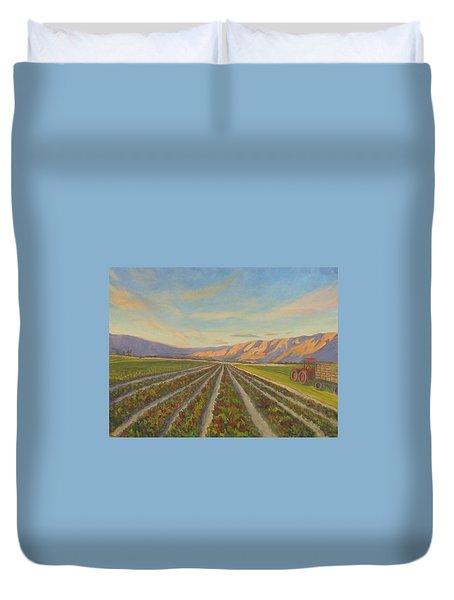 Early Morning Harvest Duvet Cover