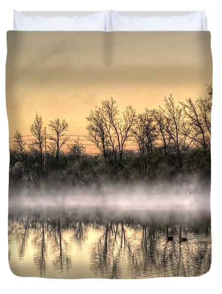 Early Morning Mist Duvet Cover