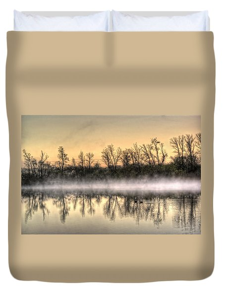 Early Morning Mist Duvet Cover by Lynn Geoffroy