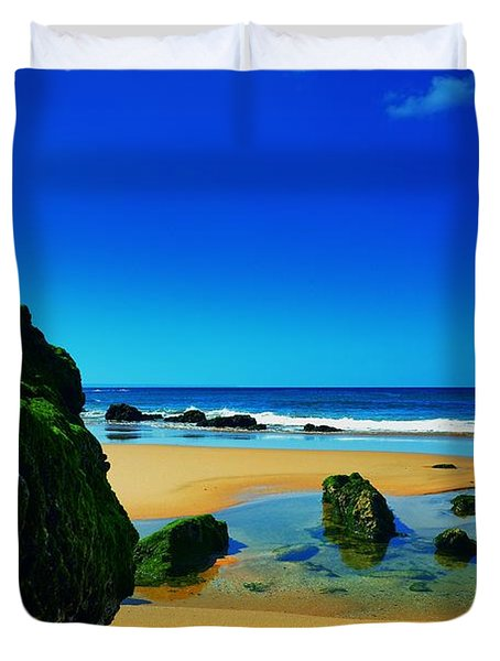 Early Morning On The Beach II Duvet Cover by Marco Oliveira